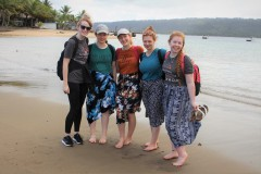 Girls on the beach of Vanuatu