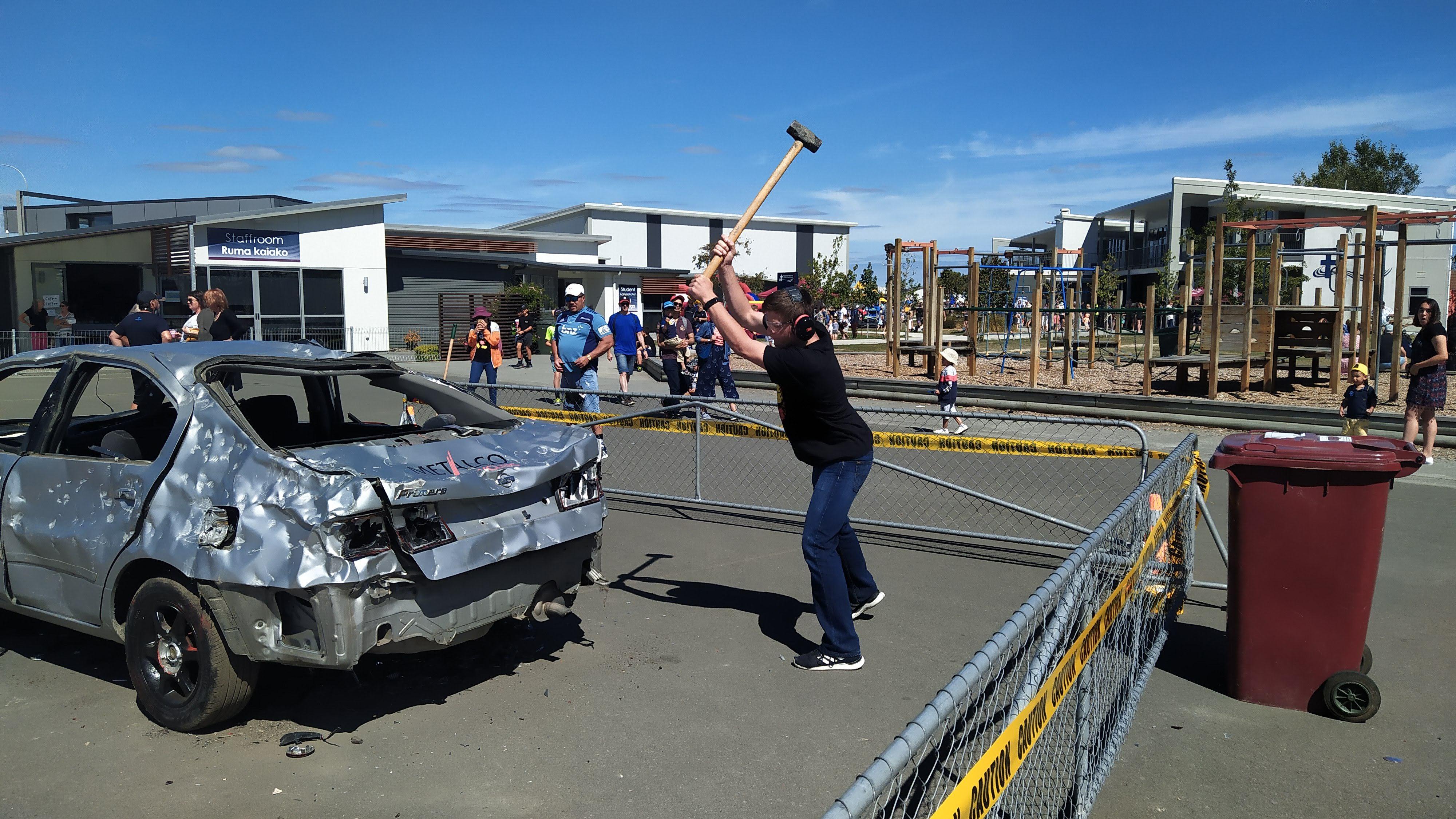 Jacob Smashes the car