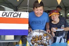 Dom's Dutch Donuts were popular.