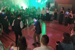 The boys show their moves