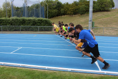 Start of the 1500m race