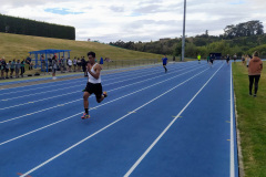 Talaiasi easily wins the senior boys relay for Asher Tribe.