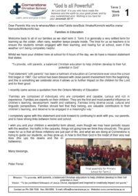 Term 3 Week 1 Newsletter
