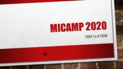 MiCamp 2020 – Y6 & 7