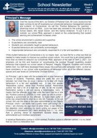 Newsletter Term 1 Week 8