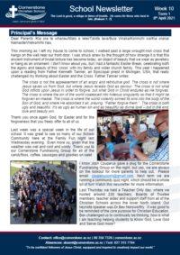 Newsletter Term 1 Week 10