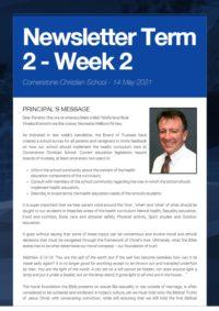 Newsletter Term 2 Week 2