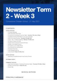 Newsletter Term 2 Week 3