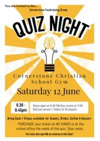 Cornerstone Fundraising Quiz Night