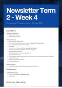 Newsletter Term 2 Week 4