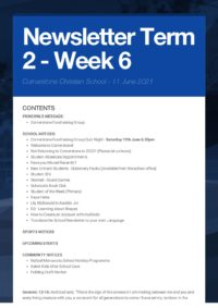 Newsletter Term 2 Week 6