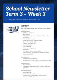 Newsletter Term 3 Week 3