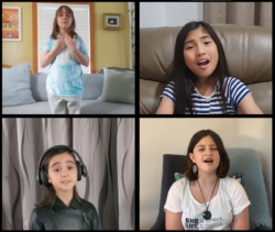 Cornerstone 'Couch Choir' Sing The Blessing