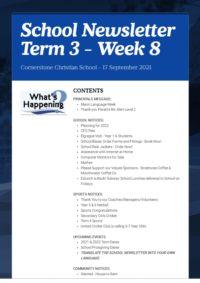 Newsletter Term 3 Week 8
